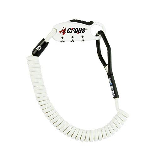 CROPS Pro Q4-Biro Cable Candado - Muy Ligero - Reajustable - Combinación de 3 dígitos - Material con Memoria: Siempre vuelve a su Forma Original