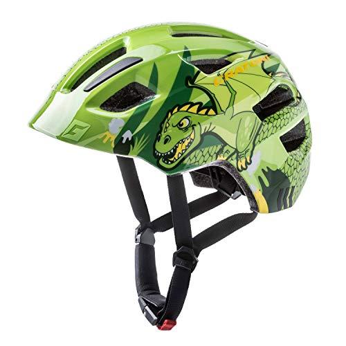Cratoni Fahrradhelm Kinder Maxster, Green Dragon Glossy, Gr. XS-S (46-51 cm)