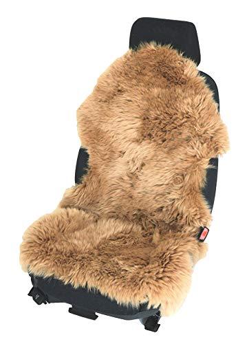 Autovacht, stoelbekleding, stoelbekleding, lamsvel, natuurlijke vorm, duurzaam voor lederen stoelen 110 cm x 65 cm kameel