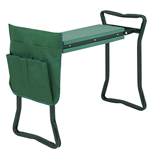 ZENY Folding Garden Kneeler and Seat Gardening Bench Stool w/Foam Kneeling Pad and Tools Pouch