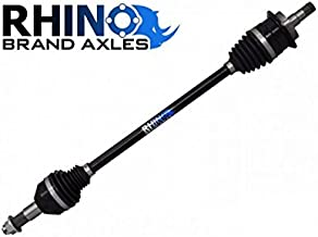 SuperATV Heavy Duty Rhino Brand Rear CV Axle for Can-Am Maverick Standard/DPS/XMR/XRS/MAX (2013-2015) - Stock Length REAR Axle - Upgrade From Your OEM Axle!