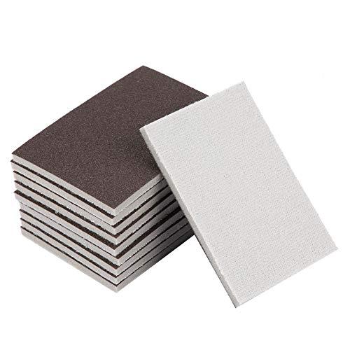 Papel de lijadora, papel de lija de esponja cuadrada de 10 piezas...