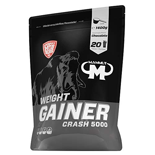 Mammut Weight Gainer Crash 5000 Schoko 1400 g Zipp Beutel