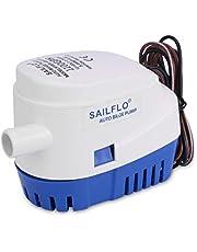 SAILFLO Automático Sumergible Bombas de sentina All-in-One Marine Bomba de achique 4 años de garantía Barco Auto Barco RV 1100GPH/600GPH/750GPH