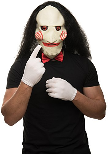 Balinco Saw Maschera + guanti bianchi + papillon rosso nel set.