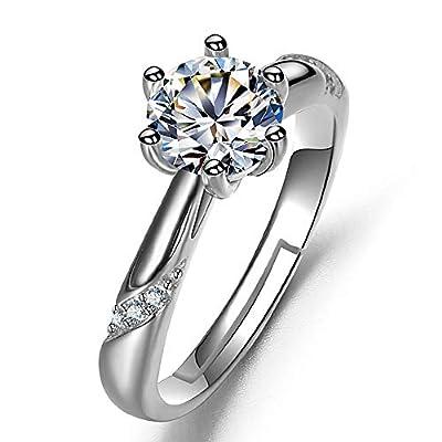Classic Imitation Round Brilliant Cubic Zirconia 1.0 CT Wedding Engagement Ring Jewerlry