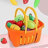 Shhjjyp Cocina DiversióN Cortar Frutas Verduras Pretender Jugar Alimentos Set Juguetes Educativos para NiñOs Juguetes Cortar Frutas Verduras Cocina De Juguete para NiñOs,35 pcs