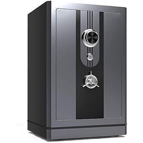 WSMLA Caja de seguridad, seguridad biométrica de huellas dactilares, adecuado para el hogar, joyería y efectivo, adecuado para el hogar, el hotel, el dormitorio y la oficina