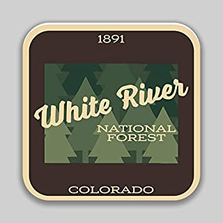 JMM Industries White River National Forest Colorado Vinyl Decal Sticker Car Window Bumper 2-Pack 4-Inches 4-Inches Premium Quality UV -Protective Laminate PDS1487