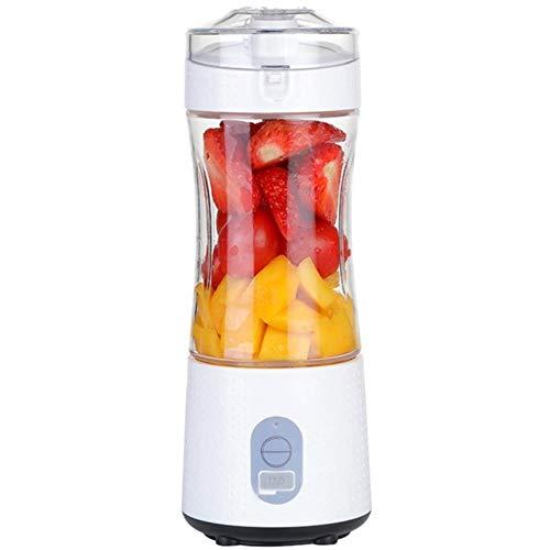 Draagbare blender, blender van persoonlijk formaat voor smoothies en shakes, handheld fruitmixermachine 13Oz USB oplaadbare sapcentrifuge, wit