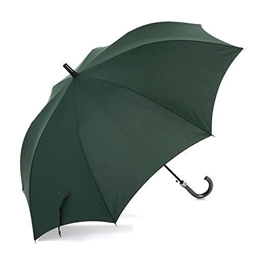 丈夫な耐風骨 ひっくり返っても元通り 撥水効果の高いデュポン社のテフロン加工生地 Lサイズ 70cm ジャンプ傘 (濃緑)