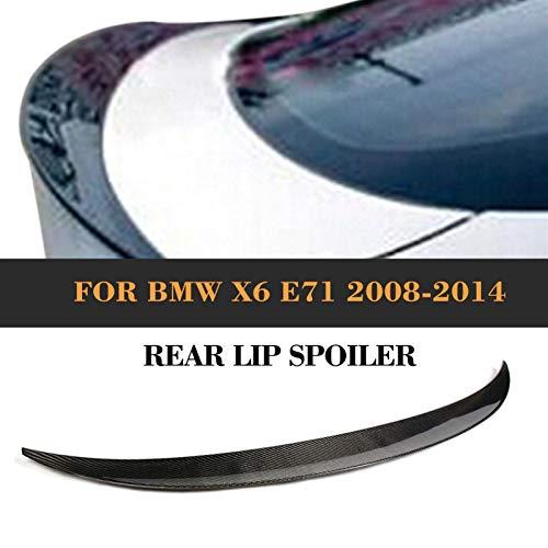 Shengyuan Ajuste del alerón del labio del tronco trasero del coche Ajuste para BMW X6 E71 2008-2013 Fibra de carbono del labio del labio del labio del ala del alerón trasero/negro FRP