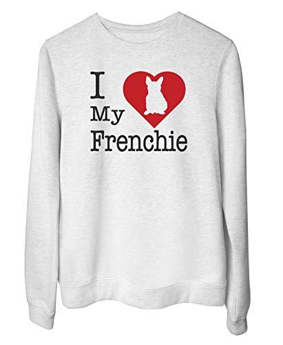 Sudadera Blanc para Las Mujeras Blanc WTC1693 i Love my Frenchie
