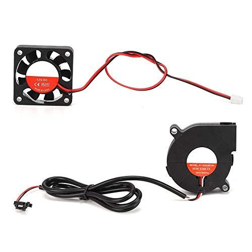 Niady 5V Fan for Prusa I3 DC Fan + Turbo Fan Kit 3D Printer Accessories Electric Parts 5V for Prusa i3 MK3 / 3S MK2 / 2.5 5V