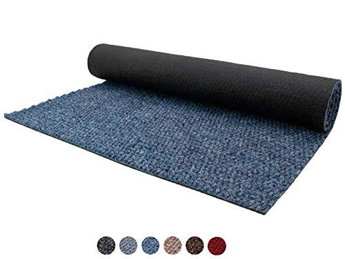 Schmutzfang-Läufer Sauberlauf Meterware PICOLLO Blau 100 x 150 cm - Rutschfester Teppichläufer Schmutzfangmatte, Sauberlaufteppich, Schmutzfangteppich, Küchenläufer, Küchenvorleger