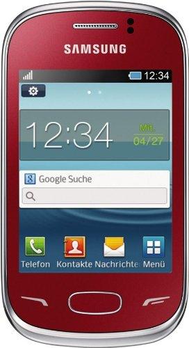 Samsung GT-S3800MRWDBT Rex70 S3800 Smartphone (7,6 cm (3 Zoll) TFT-Display, 2 Megapixel Kamera, V3.0 Bluetooth) flamingo rot