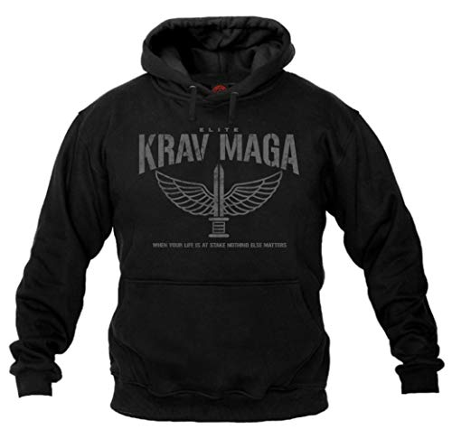 Dirty Ray Arts Martiaux Krav Maga Elite Sweat Homme avec Cap