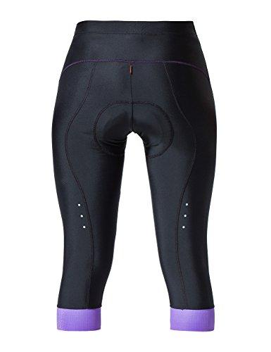 Souke Sports Damen 3/4 Radlerhose 4D gepolstert Atmungsaktiv Quick-Dry Fahradhose Damen Gepolstert 3/4 Radsport Hose - 5