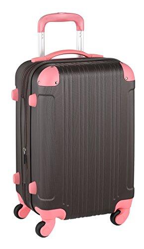 スーツケースキャリーケースキャリーバッグ■安心1年保証■Sサイズキャリーバックファスナー2日3日4日5日ハードキャリージッパー小型TSAロック拡張かわいい全サイズ有り5082-55チョコ・ピンク