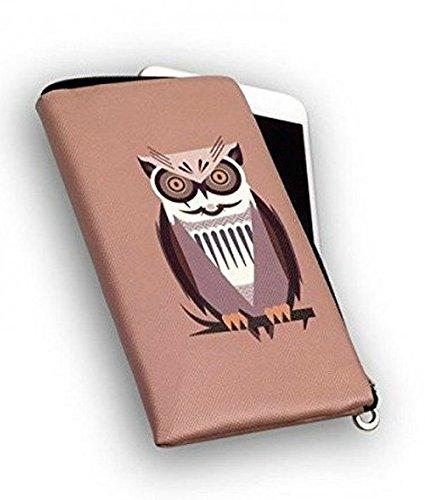 Bester der welt Handyhülle mit Reißverschluss Mocha Owl Softcase für HTC Desire 526G Dual-SIM-Handy…