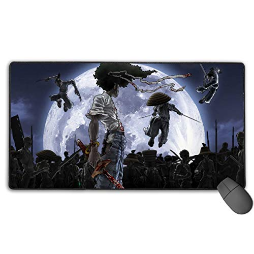Curtis J Donofrio Afro Samurai Manga Anime Mouse Pad Cool Gaming Mouse Pad Non-Slip Rubber Base Mouse Mat Large(30'' X 15.7'') for Computers, Laptop, Office & Home