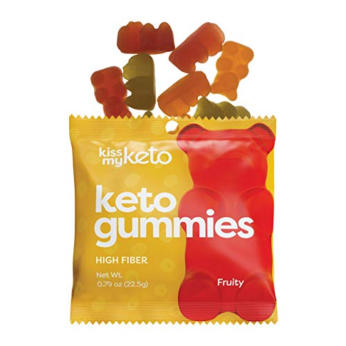 Kiss My Keto Gummies with MCT Oil - Low Carb Candy - Smart Keto Friendly Snacks - Low Sugar & Gluten Free - Only 3g Net Carbs, 12-Pack