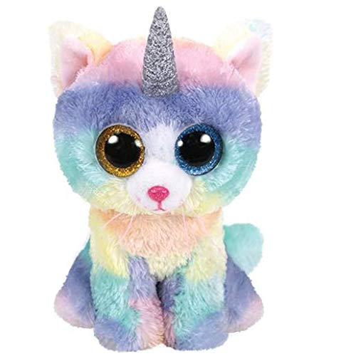 Ty- Beanie Boo's-Heather Le Chat Unicornio, 40 cm, TY36753, Multicolor