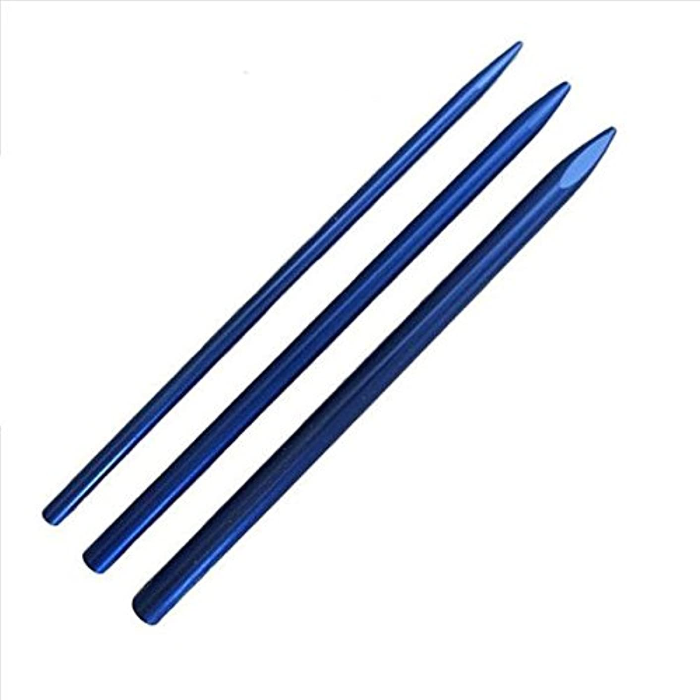 3 Different Size Paracord Lacing Needles by Jig Pro Shop (Blue)