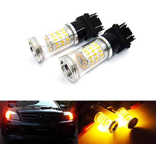 2 x ámbar 182 P27W 180 P27/7W PY27/7W Bombilla LED Reflector Luz lateral Indicador de giro de señal de cola de parada de luz diurna DRL
