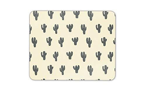 Tappetino per mouse antiscivolo, confortevole, 30 x 30 cm, tappetino per mouse con cactus, motivo: piante, giardinaggio, Messico, impermeabile, per computer desktop e computer portatile