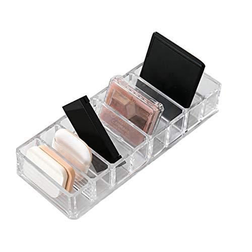 Acrylic Makeup Compact Powder Holder Blush Eyeshadow Lipstick Organizer, 8 Slots Makeup Display Storage Case