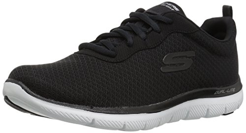 Skechers Sport Women's Flex Appeal 2.0 Newsmaker Sneaker,black-17,8.5 M US