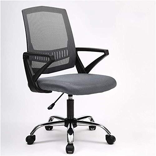 Grijze rug Executive Draaibare bureaustoel met geribbelde, Lumbar-ondersteuning, moderne stijl
