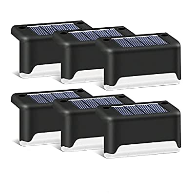 Solar Deck Lights Waterproof Led Solar Lamp Outdoor Warning Warm Light for Steps Decks Pathway Yard Stairs Fences 16 Pack