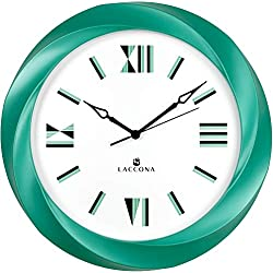 Large Wall Clock Analog Battery Operated for Living Room Décor, Bedroom, Kitchen & Office -Silent Non Ticking 15¾ inch Modern Quartz- Decorative Contemporary 3d Frame & Cool Unusual Retro Art Numerals