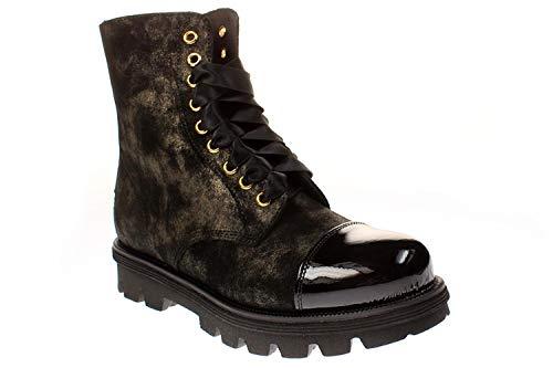 No Claim NELLY6 - Damen Stiefelette Cowboy Bikerstiefelette Boots -Polish-Gold, Größe:39 EU
