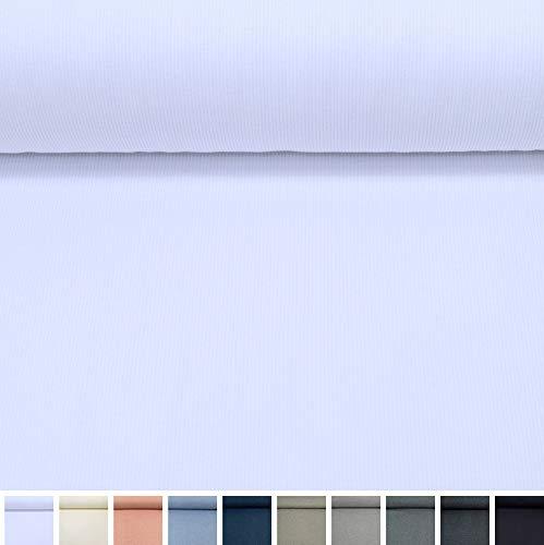 MAGAM-Stoffe Laura Bündchenstoff Grobstrick Uni Oeko-Tex Meterware 50cm (01. Weiß)