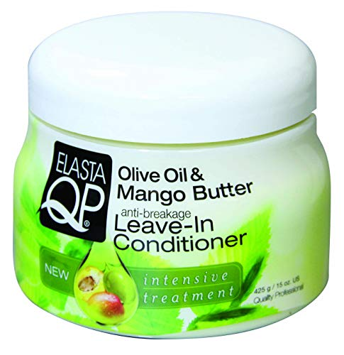 Elasta QP Olive oil & Mango Butter Leave-In Conditioner 15 oz (Multi Pack Deal!! Pack of 3)