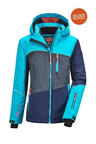 Killtec Mädchen Glenshee GRLS Ski Jckt D Funktionsjacke Mit Kapuze Und Schneefang, Azur, 176