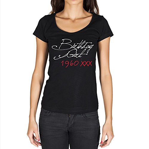 T Shirt Magliette Donna Estive Birthday Girl 1960 Regalo di Compleanno 61 Anni Maglietta Donna per Anni Regalo Donna