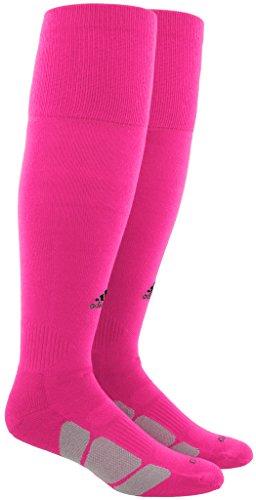 adidas Unisex Utility All Sport Socks (1-Pair), Shock Pink/Black/Light Onix, 5-8.5