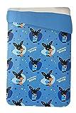 Copriletto Trapuntino Bing Bunny Primaverile Letto Singolo 1 Posto Bambino Bambina Personaggi Bing Sula Flop (Bing Azzurro, Singolo)