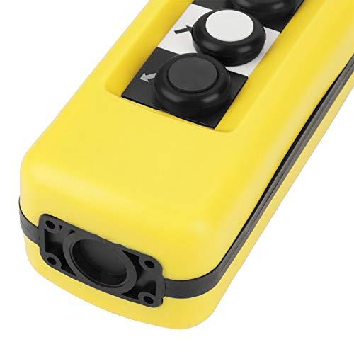 Interruptor de subida y bajada, práctico interruptor de control colgante de grúa portátil, sistema de control de polipasto profesional de 500 V para grúa de repuesto de polipasto