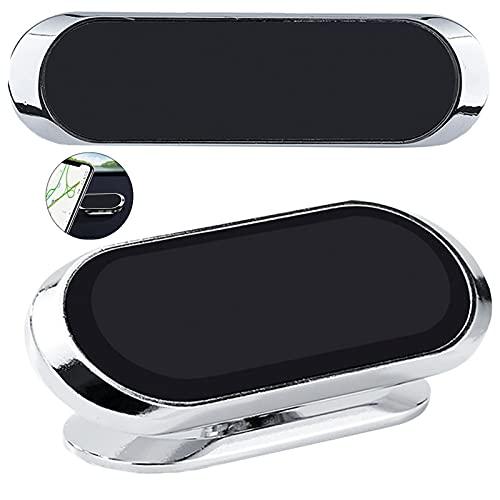 2 Piezas Soporte MagnéTico para TeléFono MóVil para Coche Soporte ImáN Magnetico para Salpicadero 360° RotacióN Ventosa Robusta para iPhone 12 Pro / 11 Samsung S20 / S10 Huawei Xiaomi LG, etc.