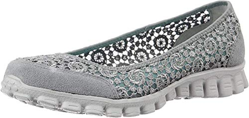 Skechers Sport Women's EZ Flex Flighty Majesty Slip-on Flat (7.5 B(M) US, Gray)