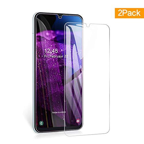 Widamin 2Pack, Compatibile con Galaxy A50 Vetro temperato, Pellicola in Vetro, [durezza 9H], [Alta Definizione], [No-Bubble] Screen Protector per Samsung Galaxy A50