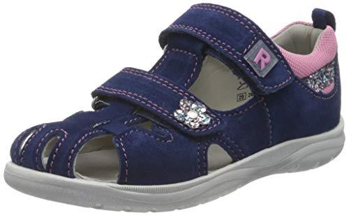 Richter Kinderschuhe Mädchen Babel Geschlossene Sandalen, Blau (Nautical/Candy/Silve 6821), 26 EU