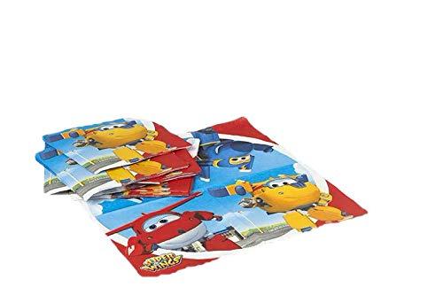 ALMACENESADAN 2690; Pack 20 servilletas de Papel Super Wings ; Producto de Papel; Ideal para Fiestas y cumpleaños; Dimensiones doblada en 4 (16,5x16,5 cm)