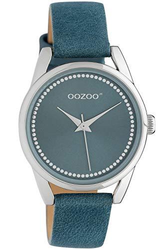 Oozoo Damenuhr mit Lederband 32 mm Blau JR307