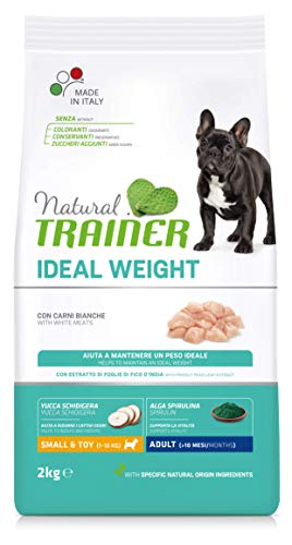 Natural Trainer Ideal Weight - Pienso para Perros Mini-Toy Adult con Carnes Blancas - 2kg ✅
